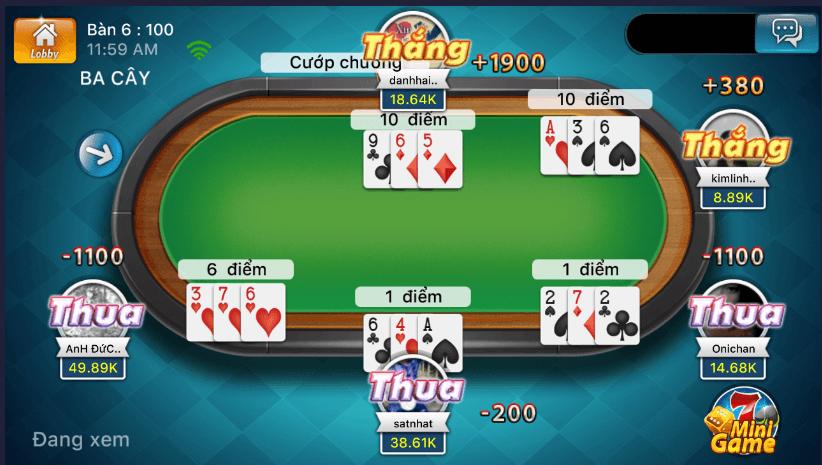 Bàn chơi game 3 Cây Online